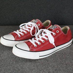 Converse Chuck Taylor Low Top, Cinnabar Brick Red, Men's Size 11